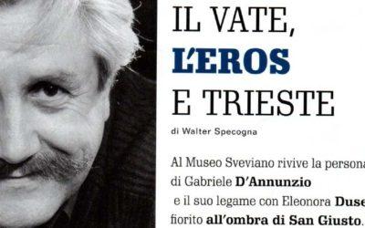 Articolo su Zeno: il Vate, l'Eros e Trieste